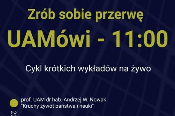 UAmowi: wykład profesora Andrzeja W. Nowaka